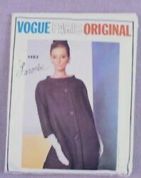 Vogue Paris Original By Laroche One Dress amp; Coat Pattern #1483 size 16 1960#x27;s $45.99