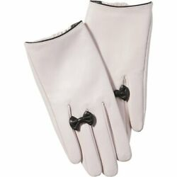 Pink Petite Bow Leather Gloves from Tickled Pink $54.50