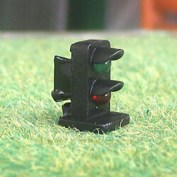 4 x HO OO scale 2 aspects railroad LED dwarf signals block signaling Green Red $12.99