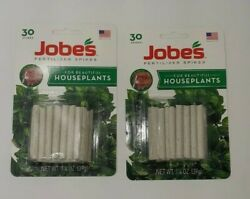 30ct JOBES Fertilizer Spikes lot of 2 for House Plants Feed at the Roots $7.98