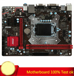 FOR MSI H110M PRO A Motherboard 64GB 1151 Pin DDR4 VGADVI Port 100% Test Work $88.00