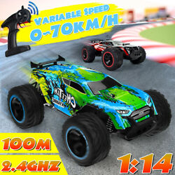 1:14 2WD RC Racing Car Off Road 2.4Ghz s Electric Monster Vehicle Remote Control $43.99