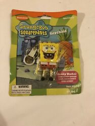 New 2000 Basic Fun Nickelodeon SpongeBob SquarePants Squeezable KeyChain $19.99