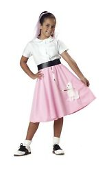 California Costumes Girls Poodle Skirt Costume MED $12.99