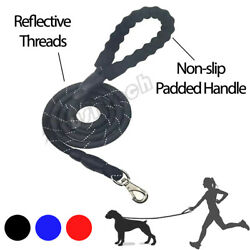 5 FT Nylon Dog Leash Lead Rope Reflective with Handle for Dog Training Walking $7.31
