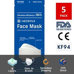 Mediana KF94 Face Mask With 4 Layers Filter Adjustable Nose Clip $14.98