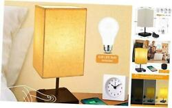 Dimmable 3 Way Touch Control Bedside Lamp Modern Table Lamp with USB Charging P $55.70