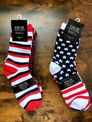 Novelty Women#x27;s Socks USA Stars amp; Stripes $20.00