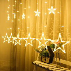 Christmas LED Curtain Fairy String Lights Holiday Party Wedding Decoration Xmas