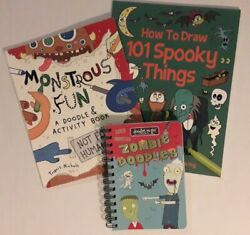 Lot New Kids#x27; Halloween Monster Themed Drawing Coloring Activity Books $13.99