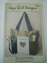 Lazy Girl Designs The Whimsy Bag Tote Diaper Bag 6 Large Exterior Pockets