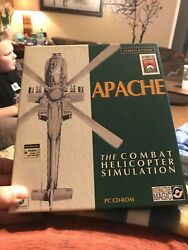 Apache The Combat Helicopter Simulator PC CD BIG BOX And Install Guide Only $3.99