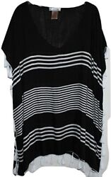 NWT Camp;T Beach Womens Beach Swimsuit Cover Up Black White Size Medium NEW $12.30