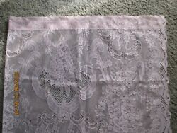 Vintage Collectibles Linens amp; Textiles One Panel Pink Lace Curtain New $9.99