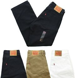 Levi#x27;s Men#x27;s 502 Blue Jeans Regular Fit Carpenter Button Fly Jean Denim Pants $29.99