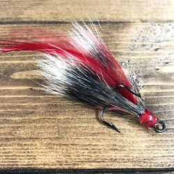 Village Tackle Squirrel Red Feather Dressed Game Fishing Treble Hooks Size 2 $2.99