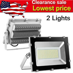2pcs 150 Watt Slim High Power LED Flood Light Cool White Indoor Outdoor Fixtures