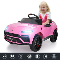 12V Battery Powered Lamborghini Electric Kids Ride On Car Remote Control Pink $175.99