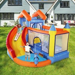 Inflatable Mighty Bounce House Castle Jumper Blower with Slide Splash Pool New $165.99