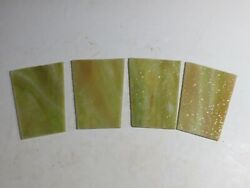 Antique Stained Slag Glass Panels For Antique Lamp Shade $20.00