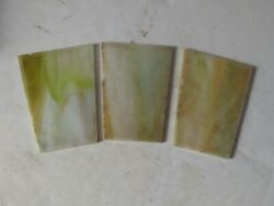 Antique Stained Slag Glass Panels For Antique Lamp Shade $14.00