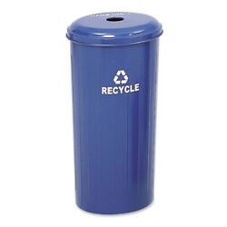 USED 20 gallon Commercial Recycling Receptacle w Lid Trash SAF9632BU