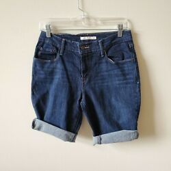 Levis 515 Womens Cut off Bermuda Shorts Size 6 Darkwash $9.97