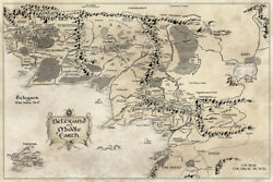 The Lord of the Rings Hobbit Middle Earth Art Wall Room Poster POSTER 24x36 $18.99