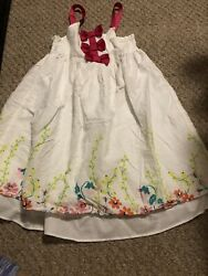 Girls White amp; Pink Penelope amp; Mack Dress Size 6 Runs Small $1.99