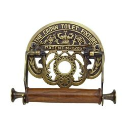 Toilet Paper Holder Antique Brass Crown Tissue Holder Renovator#x27;s Supply $49.99