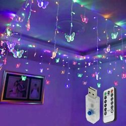 95 Butterfly LED String Curtain Lights Colorful Wedding Children Room Decor Lamp $12.99