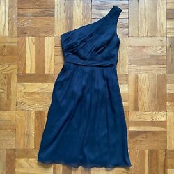 J.Crew Kylie Dress One Shoulder Chiffon Bridesmaid Dress 2
