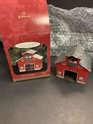Vintage in Box quot;Red Barnquot; Hallmark Keepsake Ornament Pressed Tin Dated 1999 #3 $9.99
