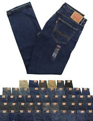 Levi#x27;s 505 Men#x27;s Jeans Regular Fit Denim Tapered Boot Straight or Narrow Leg $29.99