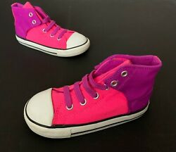 Converse All Star Toddler Girl High Top Shoes Size 10 Pink Slip On No Tie Laces $12.00