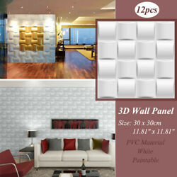 12X 13D Wall Panel PVC 3D Home Wall Ceiling Background Decoration DIY Art Design $34.08