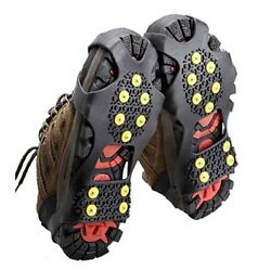 1 Pair Non slip Snow Cleats Shoes Boots Cover Step Ice Spikes Grips Crampons US $8.27