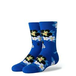 New with tags Stance Kids Socks quot;Digi Floralquot; YM 11 1 Youth Crew Blue $8.99
