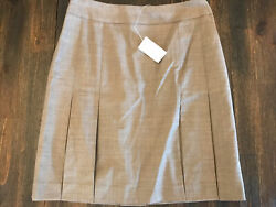 Women's Skirt Business Casual Petite Sophisticate Stretch Gray Size 4 NWT $14.99