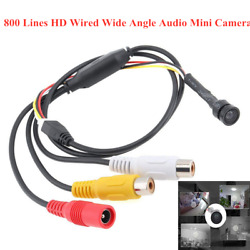 800 Lines DC12V 800m AHD Camera TV Wired Wide Angle Audio Mini Cameras $22.39