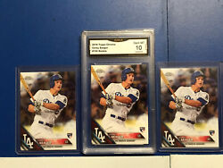COREY SEAGER 3 CARD ROOKIE LOT 2016 TOPPS CHROME BASEBALL #150 RC With Graded $100.00