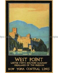 home art print wall decor 1934 West Point travel poster 8x10quot; print $5.95