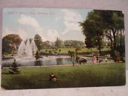Westerly R I Rhode Island Lake in Wilcox Park early postcard $12.99
