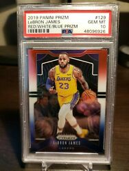 2019 Panini Prizm LeBron James Red White Blue Prizm PSA 10 $160.00