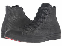Converse Mens Chuck Taylor All Star 13 M Black Woven Textile Sneakers Shoes $100 $50.00
