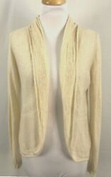 Anthropologie Angel of The North Womens Open Cardigan Thin Dark Ivory Large $14.99