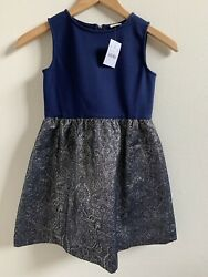 New Crewcut Girls Dress Dark Navy Size 7 $22.99