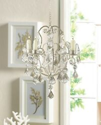 Shabby Ivory Chic Chandelier CRYSTAL CHIC HOME DECOR Lights Lighting $26.91