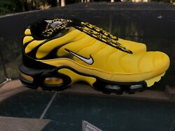New Nike Air Max Plus Frequency Pack Size 9.5 AV7940 700 Yellow Black $190.00