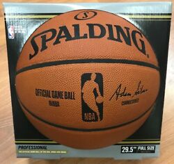 Spalding Official NBA Game Basketball Official Size 29.5quot; Adam Silver Signed $149.97